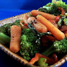 Ginger Carrots and Broccoli With Sesame Seeds
