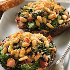Stuffed Field Mushrooms with Crispy Parmesan