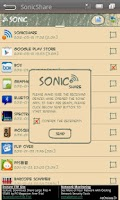 Screenshot of SonicShare