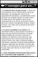 Screenshot of Consejos Matrimoniales