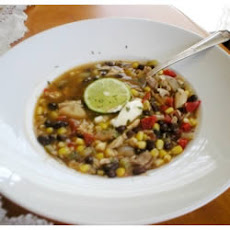 Chicken Soup With Black Beans and Corn