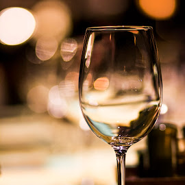 Solitary Fill by Bharath Pasupuleti - Artistic Objects Glass ( dinner, wine, empty, glass, restaurant )
