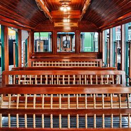 Old tram interior seats by Antonio Amen - Transportation Other ( seats, tram )