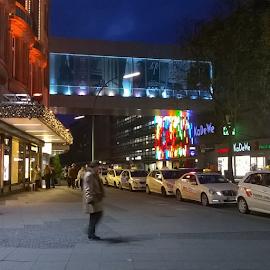 by Kasia Haldas - City,  Street & Park  Street Scenes ( Lightning, lights, streetphotography, colours, Berlin, street, buildings, view, streetview,  )