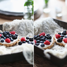 Vanilla Cream Pies with Summer Berries + Video