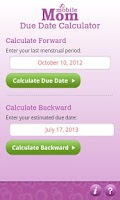 Screenshot of Pregnancy Due Date Calculator