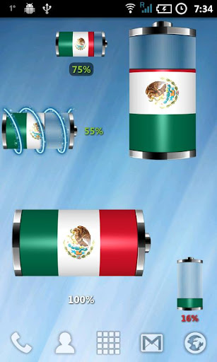 Mexico - Flag Battery Widget