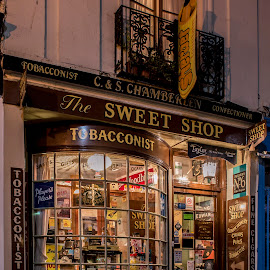 The Sweet Shop by Andy Kay - City,  Street & Park  Markets & Shops ( shop, old town, night, tobacconist, sweet shop, hastings, retail )