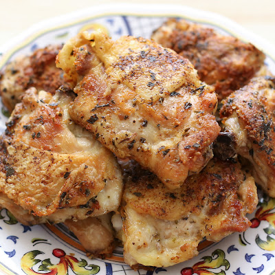 Pan-Fried Italian Chicken Thighs