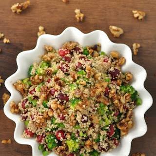 Cranberry Quinoa Salad with Candied Walnuts
