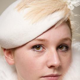 by Nick Dale - People Fashion ( girl, woman, fur, redhead, beret )
