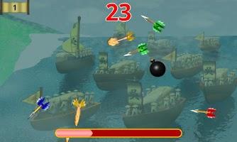 Screenshot of 三国赤壁草船で矢を借りる