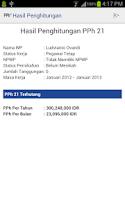 Screenshot of Ranah Pajak PPh 21 Calc