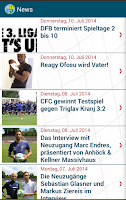 Screenshot of CFC-FanApp