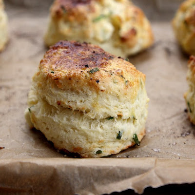 Feta and Chive Sour Cream Scones