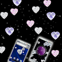 Diamond Hearts Gem Theme icon