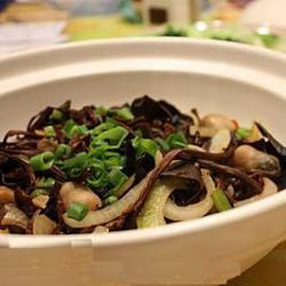 Tofu And Mushrooms In Oyster Sauce