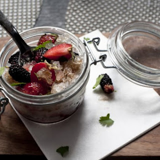 Cucumber Ice With Dr. Pepper Reduction