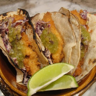 Catfish Tacos with Chipotle Slaw