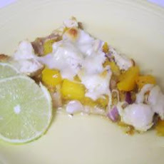 Blackened Chicken Pizza with Yellow Tomato Salsa