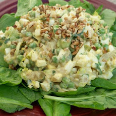 Curried Egg Salad on Greens
