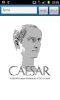Screenshot of caesar Latein Wörterbuch