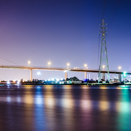 Westgate Bridge by Peter Nguyen - Buildings & Architecture Bridges & Suspended Structures ( night photography, westgate bridge, melbourne, bridge, westgate,  )