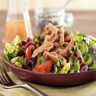 Pulled Pork Greek Salad