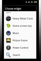 Screenshot of Heavy Metal Clock