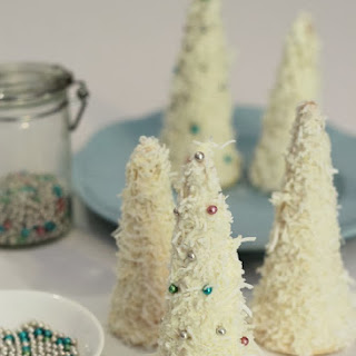 Coconut Christmas Tree Cake Toppers