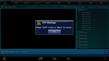 Screenshot of DTVIndia Mini