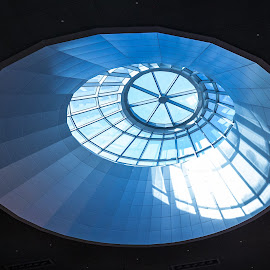 Skylight by Fares Ghneim - Buildings & Architecture Architectural Detail ( girders, window, ceiling, dubai, uae, glass, round, sunshine, shopping, skylight, mall, middle east )