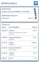 Screenshot of PAYBACK móvil
