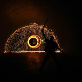 Hero by Brenda Hooper - Abstract Fire & Fireworks ( hero, park, steel wool, maumelle, pulaski county, fire,  )