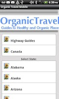 Screenshot of Organic Travel Mobile