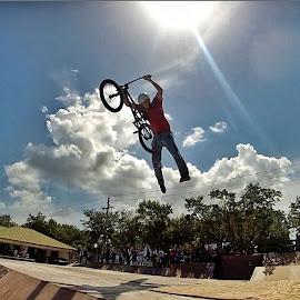 superman by Michael Davis - Sports & Fitness Other Sports ( bike, superman, florida, bmx, ramp, skatepark )