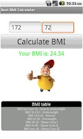 Screenshot of Best BMI Calculator