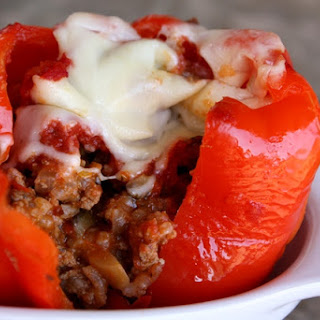 Spicy Italian Stuffed Bell Peppers