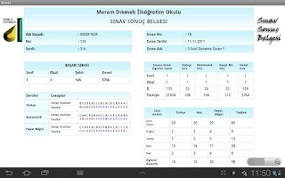 Screenshot of Tablet Sınav