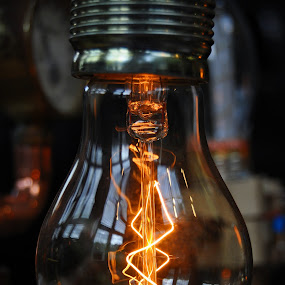 Reflection In The Light Bulb by Marco Bertamé - Artistic Objects Technology Objects ( reflection, fond de gras, electrical bulb, steam punk, festival, filament, light, light bulb, luxembourg,  )