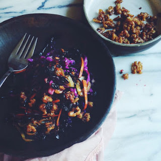 Kate's Sweet & Tangy Purple Cabbage with Peppery Candied Nuts