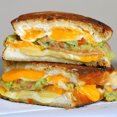 Bacon and Guacamole Grilled Cheese Sandwiches