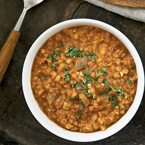 Spicy Red Lentil and Chickpea Stew (Paula's Moroccan Lentil Stew)