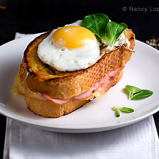 French Ham, Cheese and Egg Sandwich