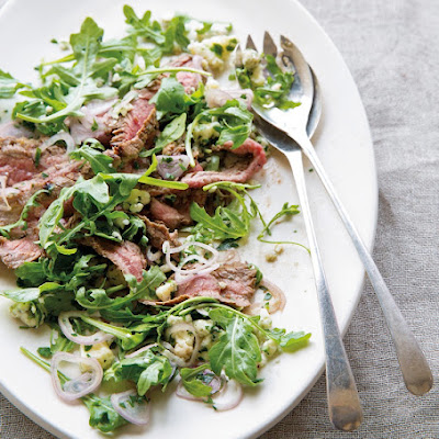 Flank Steak Salad with Arugula & Blue Cheese