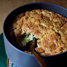 Leek and Shiitake Spoonbread