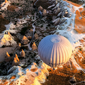 Turkey by Arthit Somsakul - Landscapes Travel ( kappadocia, turkey, balloon, formation )