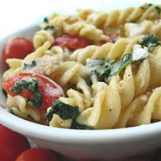 Penne With Spinach and Asiago Cheese