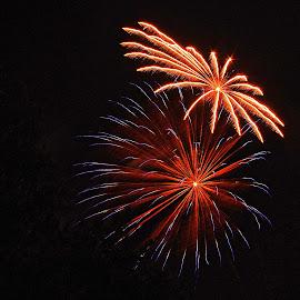 by Karen McKenzie McAdoo - Abstract Fire & Fireworks