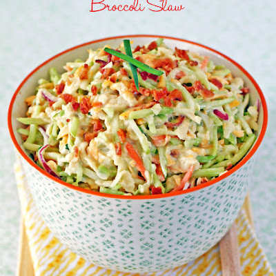 Bacon, Apple & Cheddar Broccoli Slaw
